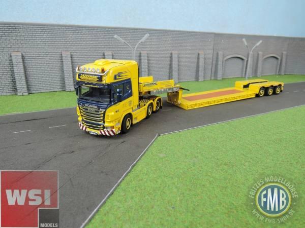01-2346 - WSI - Scania R TL mit 3achs Nooteboom Pendel X Tieflader (ohne Ladung) - Lazzaroni - I -