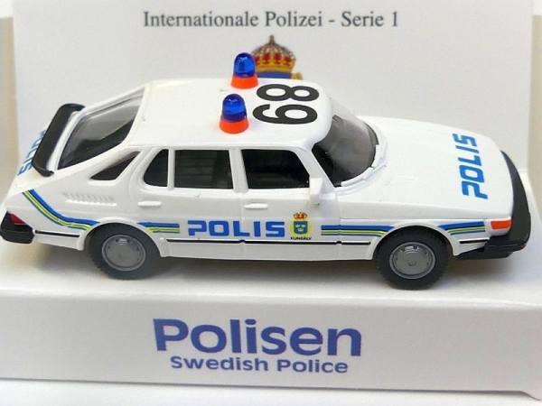 """43216 - Wiking - Saab 900 Funkstreifenwagen """"Polis"""" - Polizei Schweden"""