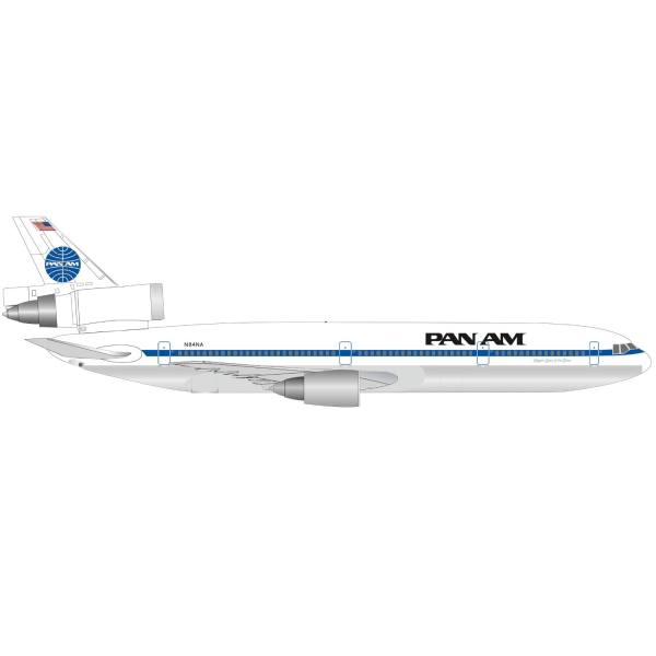 """534475 - Herpa - Pan Am McDonnell Douglas DC-10-30 """"Glory of the Skies"""""""