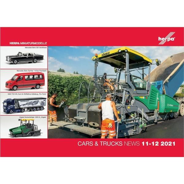 209250 - Herpa - Prospekt Neuheiten Cars & Trucks - Wings November / Dezember 2021
