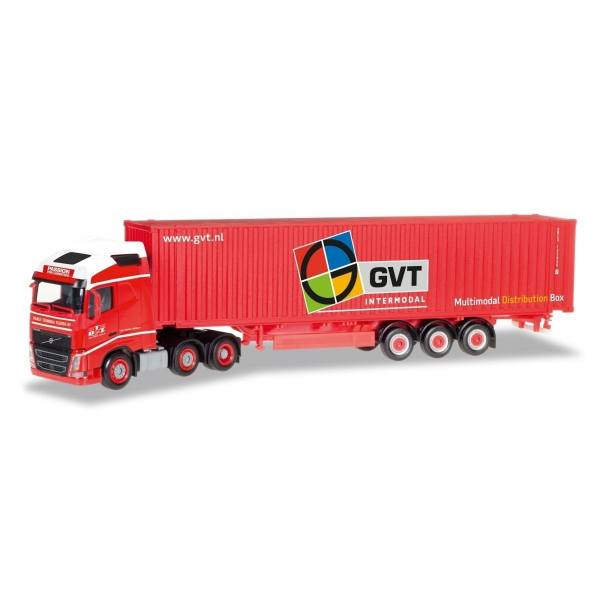 """307710 - Herpa - Volvo FH4 Globetrotter 6x2 45ft. Container-Sattelzug """"GVT""""  NL"""