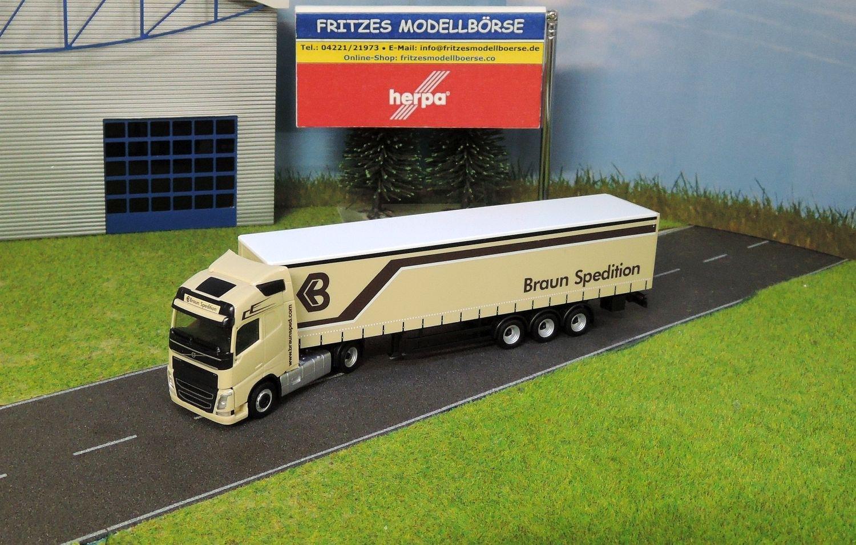 925921   Herpa   Volvo FH Gl. Gardinenplanen Sattelzug