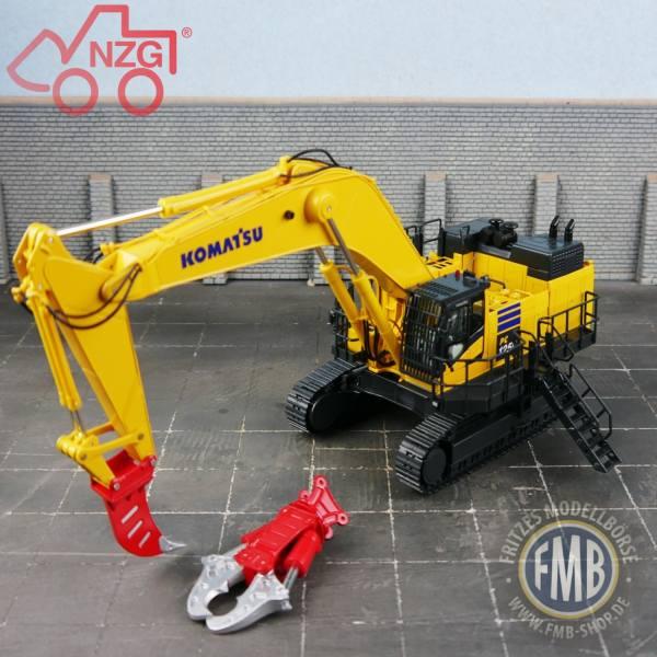 9991 - NZG - Komatsu PC1250 Kettenbagger mit Abbruchausrüstung