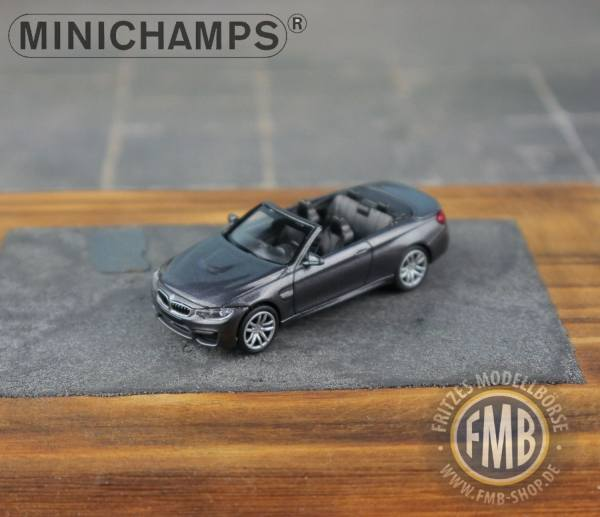 Minichamps 1:87 BMW m4 Cabrio 2015-GREY