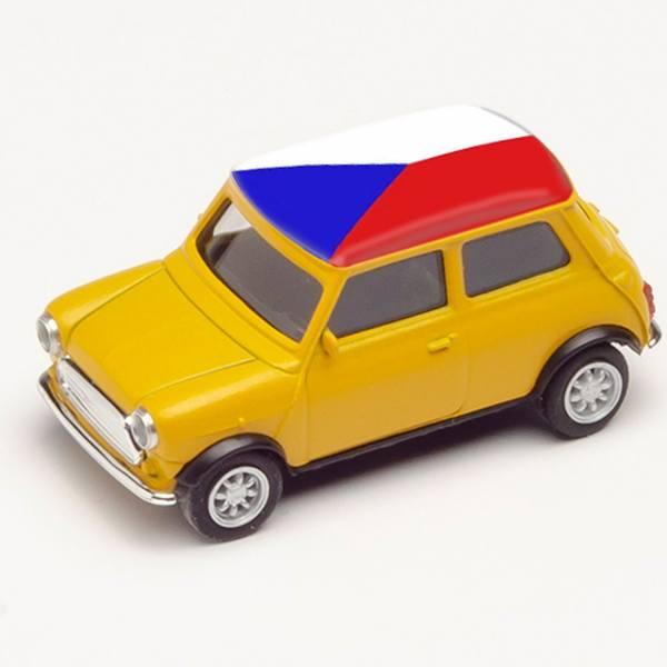 """420754 - Herpa - Mini Cooper, gelb """"EM 2021 - Tschechien"""""""