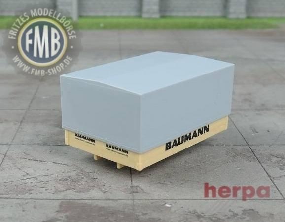 """933360 - Herpa - Ballastpritsche mit Plane neu """"Baumann"""""""
