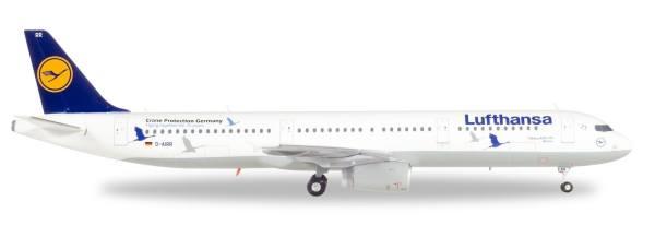 """558563 - Herpa - Lufthansa  Airbus A321  """"25 Jahre Kranichschutz"""" - 1:200"""