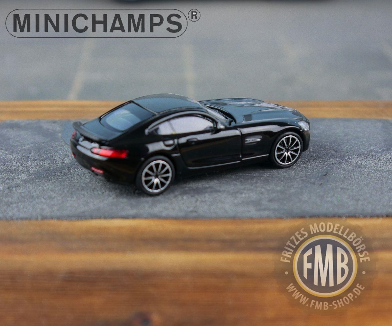 negro 870 037120-1:87 2015 Minichamps Mercedes AMG GTS
