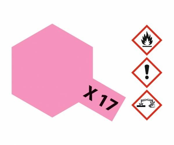 81017 - Tamiya - Acrylfarbe 23ml, rosarot glänzend X-17