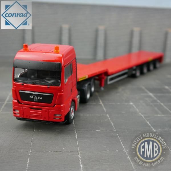 70194/0 - Conrad - MAN TGX 3achs Zugmaschine mit 4achs -Faymonville- Telemax Auflieger - rot