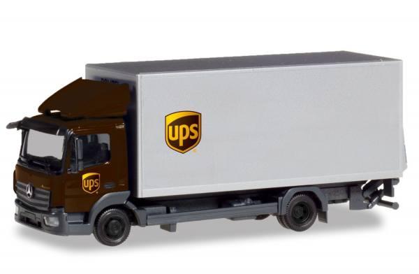 """310208 - Herpa - Mercedes-Benz Atego `13 Koffer-LKW mit Ladebordwand """"UPS"""""""
