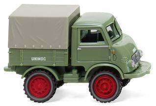 036802 - Wiking - Mercedes-Benz Unimog U401 mit Plane, hellgrün