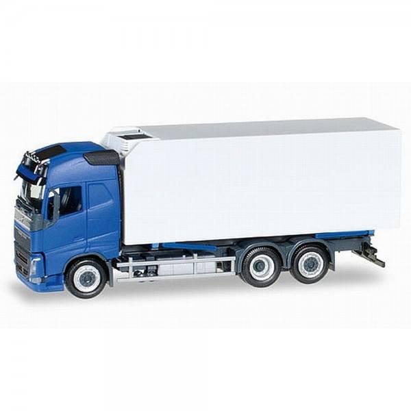 307079 - Herpa - Volvo FH Globetrotter Wechselkühlkoffer-LKW, blau/weiß
