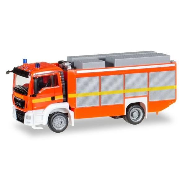 091077-002 - Herpa - MAN TGS M Euro6 Rüstwagen -tagesleuchtrot-