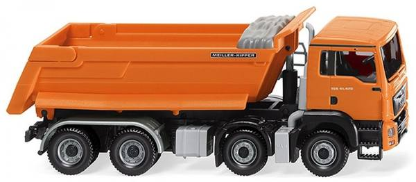067448 - Wiking - MAN TGS Euro6 8x4 Meiller Rundmuldenkipper - orange