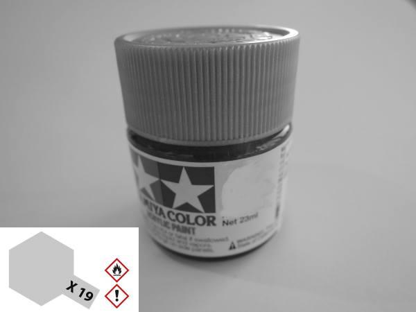 81019 - Tamiya - Acrylfarbe 23ml, rauch / grau seidenmatt X-19