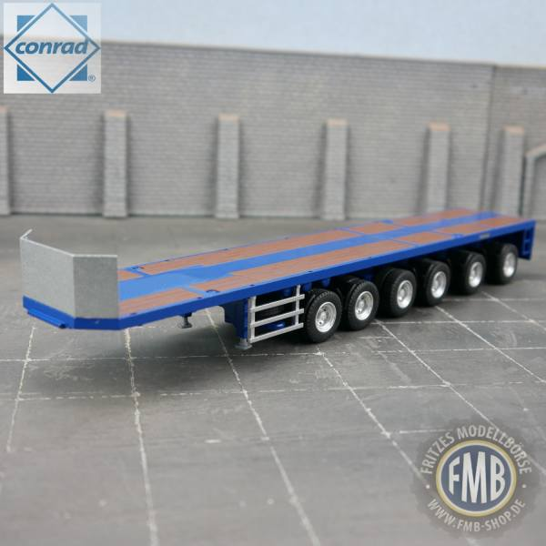 98038/0 - Conrad - 6achs Goldhofer Ballastauflieger - blau -