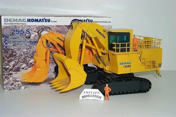 442 - NZG - Demag Komatsu H255 S Kettenbagger mit Hochlöffel, gelb