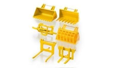 Siku zubehör set für frontlader gelb fritzes modellbörse