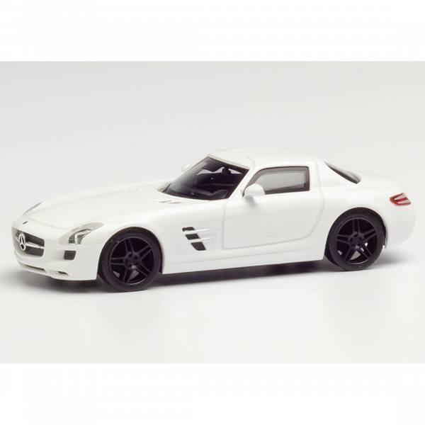 420501 - Herpa - Mercedes-Benz SLS AMG, weiß mit schwarzen Felgen