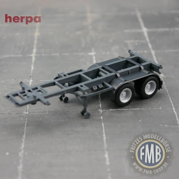 941242 - Herpa - 20ft. Container-Auflieger, 2achsig, grau