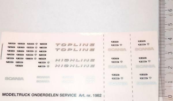 1982 - Sticker Set - Decals - Scania R5 und R6 Serie