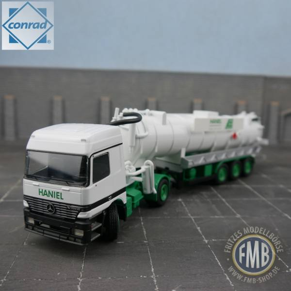 3060/02 - Conrad - Mercedes Benz Actros MP1mit Saugauflieger - Haniel Service -