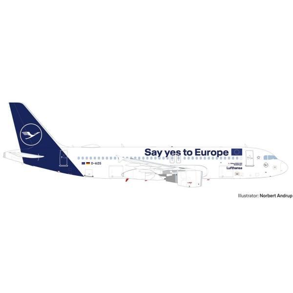"533614 - Herpa - Lufthansa  Airbus A320 ""Say yes to Europe"" ""Sindelfingen"""