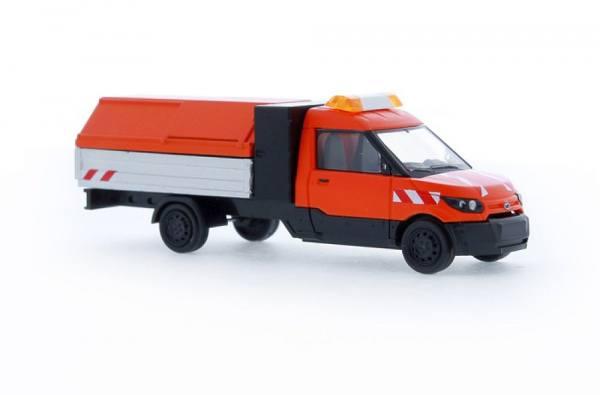 """33200 - Rietze - Streetscooter Work L Pritsche mit Müllhaube E-Transporter """"Stadtreinigung"""""""