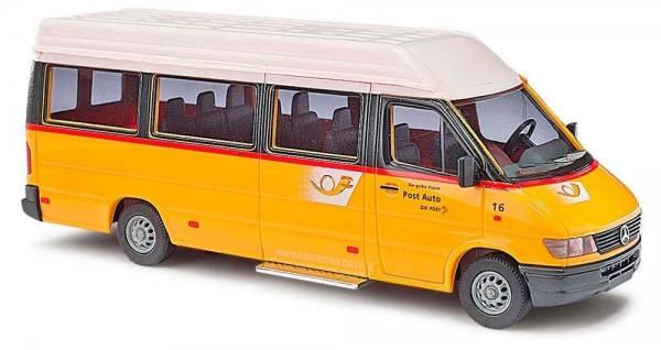 """47845 - Busch - Mercedes-Benz Sprinter `95 Bus LR """"Postauto Schweiz"""""""