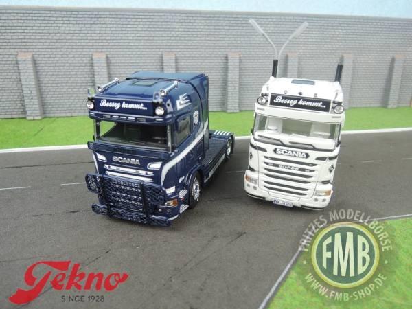 72682 - Tekno - Scania R Streamline zwei 2achs Zugmaschinen- Set - Bessey - D -