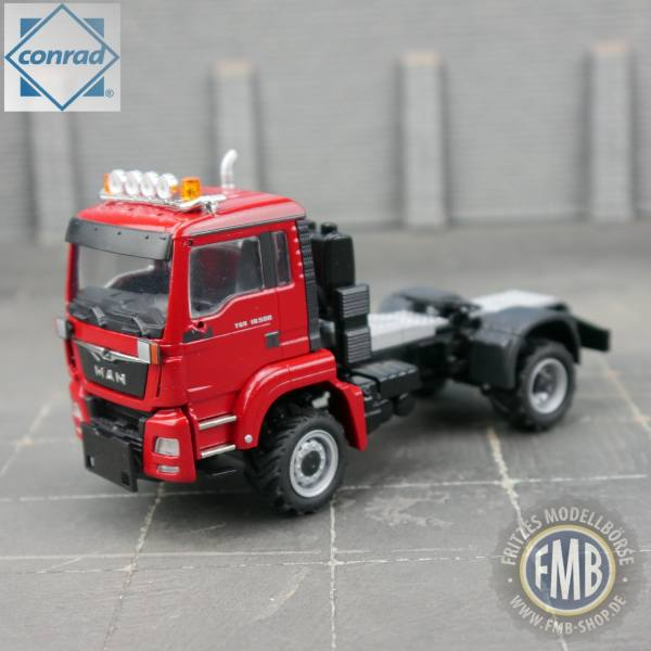 77008/03 - Conrad - MAN TGS M 18.500 4x4 Agrar Zugmaschine, rot