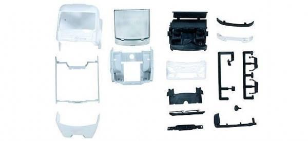 083638 - Herpa - TS Mercedes-Benz Actros StreamSpace 2,3 Kabine mit WLB, weiß -2 Stück