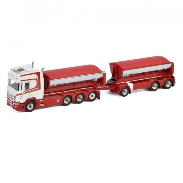 01-3336 - WSI - Scania CR Highline 4achs / 3achs Anhänger Hakenliftmulde - Killingmo Freseservice AS