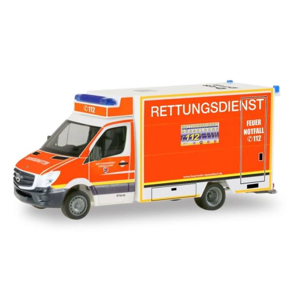"""Herpa 1:87 094535 Mercedes-Benz Sprinter Fahrtec RTW /""""Städteregion Aachen/"""""""