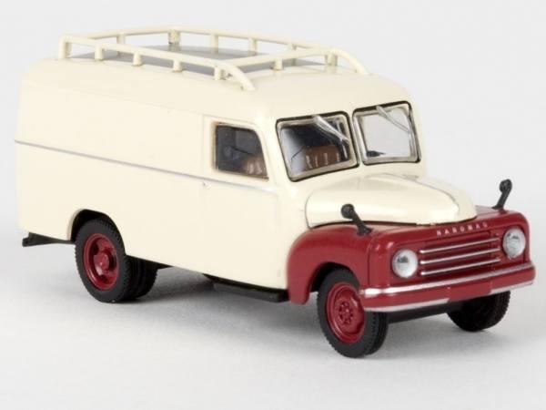 58152 - Starline - Hanomag L 28 Kasten (1950-1960), hellelfenbein/rubinrot