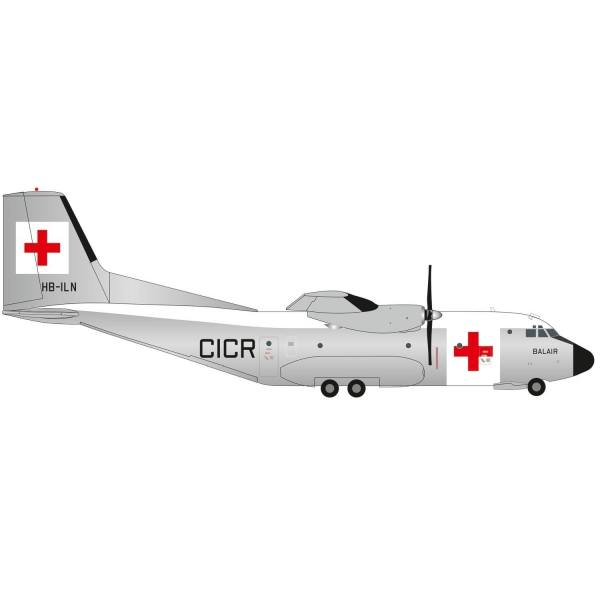 570701 - Herpa - Balair / International Red Cross Transall C-160 - HB-ILN -