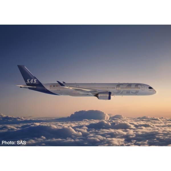"""534406 - Herpa - SAS Scandinavian Airlines Airbus A350-900 """"Ingegerd Viking"""""""