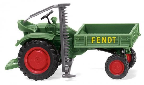 089938 - Wiking - Fendt Geräteträger mit Mähwerk - grün