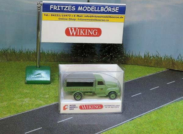 034554 - Wiking - Hanomag L28 Pritsche mit offener Plane - Schenker -