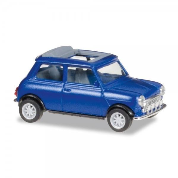 038591 - Herpa - Mini Cooper Rolldach + Zusatzsscheinwerfern -blaumetallic--