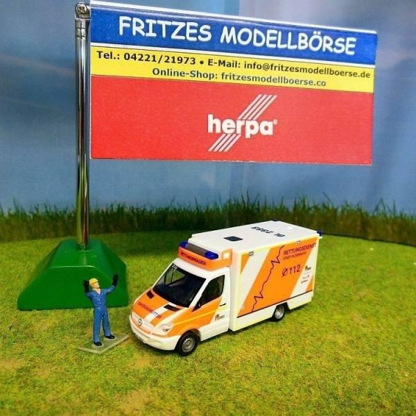 903257 - Herpa - Mercedes-Benz Sprinter Fahrtec RTW - Rettungsdienst Oldenburg -