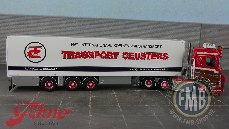 Scania s serie lowline kuehlauflieger ceusters ronny Tekno 71644 1:50
