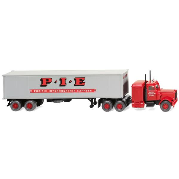 "052706 - Wiking - Peterbilt 379 40ft Container-Sattelzug ""P.I.E. - Pacific Intermountain Express"""