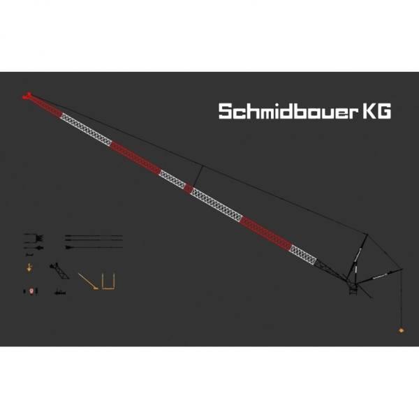 YC771-7 - YCC Models - Wippspitze für den Liebherr LTM 1800 - Schmidbauer KG