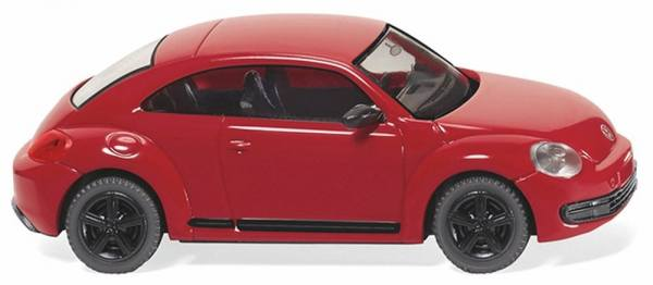 002903 - Wiking - VW The Beetle - tornadorot mit schwarzen Felgen