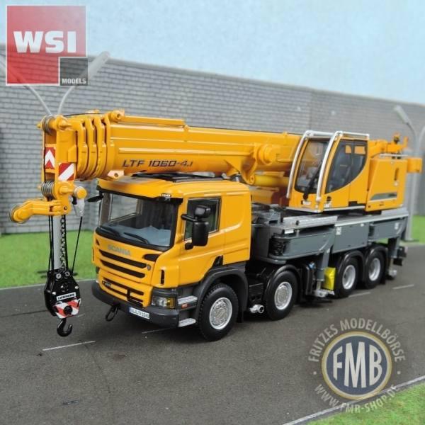 04-1169 - WSI - Scania Liebherr LTF 1060-4.1 Mobilkran, gelb RAL1007