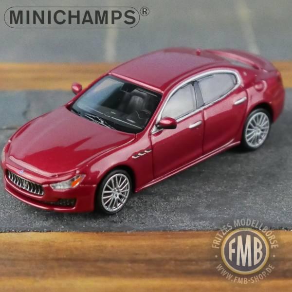123001 - Minichamps - Maserati Ghibli (2018), dunkelrot metallic