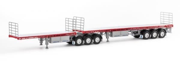 ZT09123 - Drake - doppelter Auflieger Freighter B Double Set - Silber/rot - AUS -