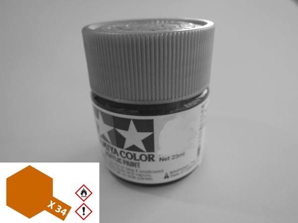 81034 - Tamiya - Acrylfarbe 23ml, metallic braun glänzend X-34